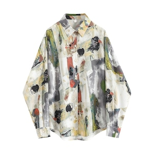 Paint color retro shirt(ペイントカラーレトロシャツ)a-742