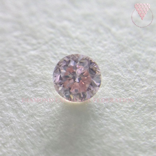 0.101 ct Fancy Pink SI2 GIA & CGL 天然 ピンク ダイヤモンド