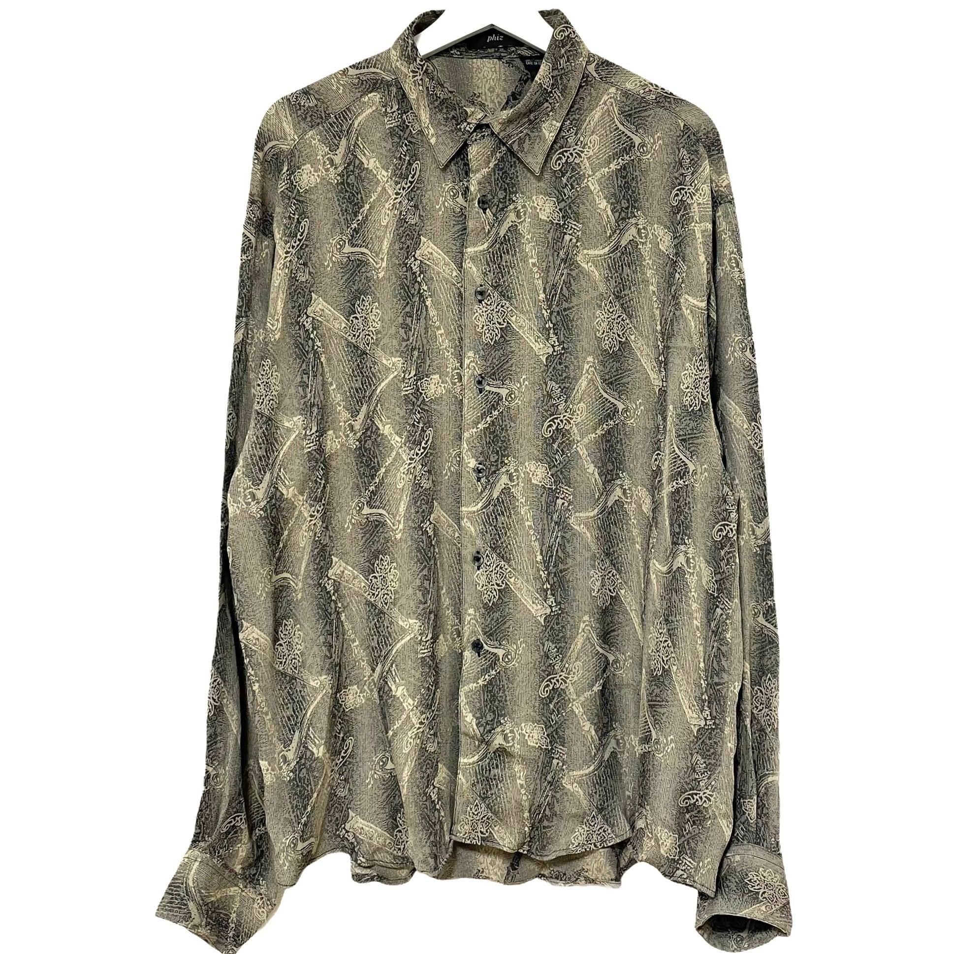Dead Stock 90's phiz Jacquard Rayon Shirt【3】