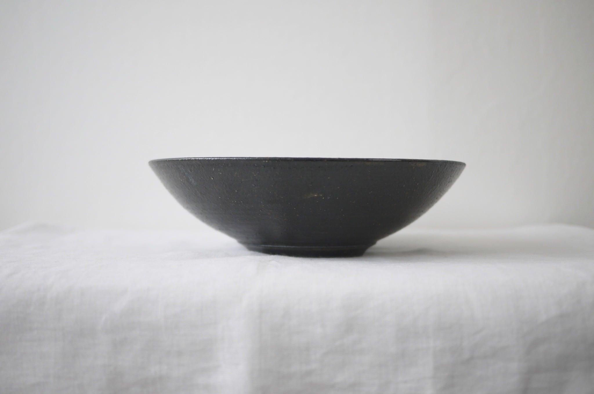 寺田昭洋 no.16 8寸鉢 黒