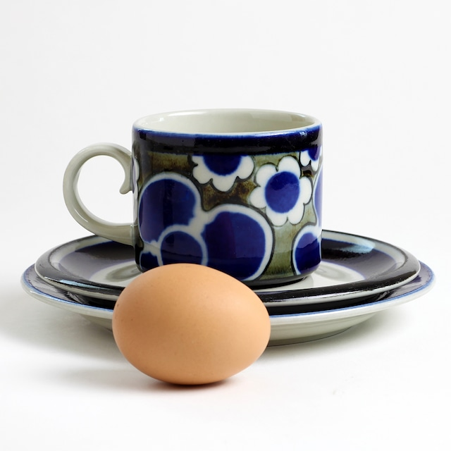 ARABIA アラビア Saara サーラ コーヒーカップ&ソーサー、プレート 三点セット - 2 北欧ヴィンテージ