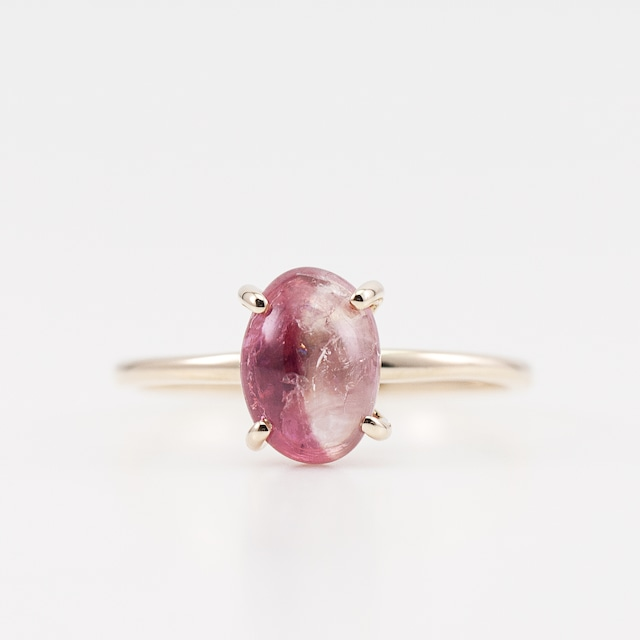 Bicolor tourmaline ring / Four claws