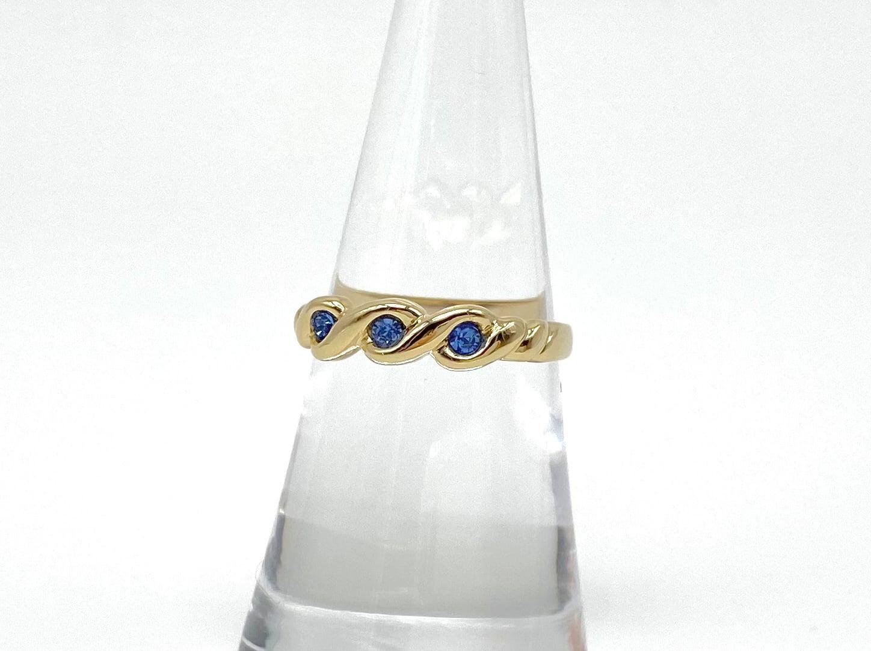 Parfum ring ー gold x deep blue ー