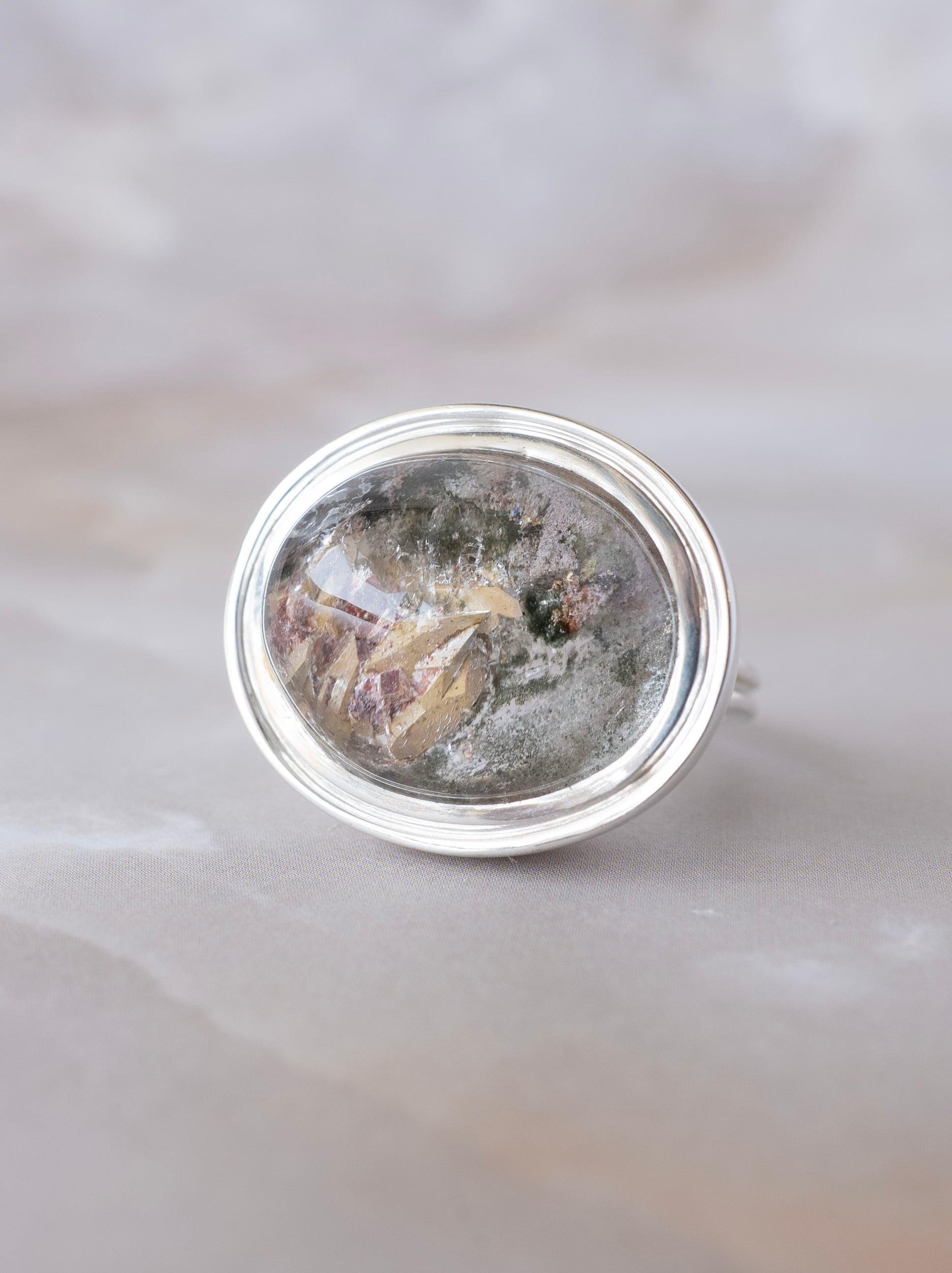 Titanite Quartz Ring