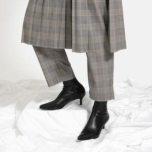 【一部難あり】ポインテッドトゥ ストレッチブーツ:ブラック Mサイズ(OT1420)