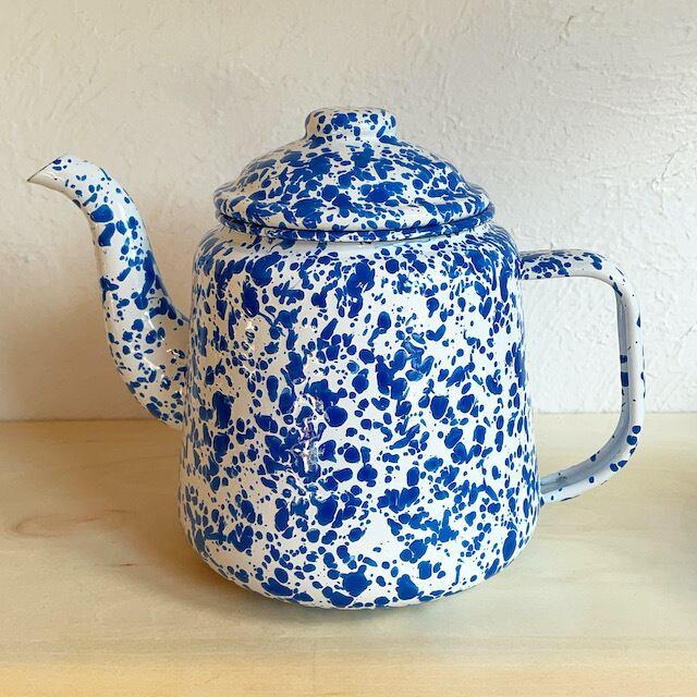 "CROW CANYON HOME ""TEA POT"" BLUE 1.5L"