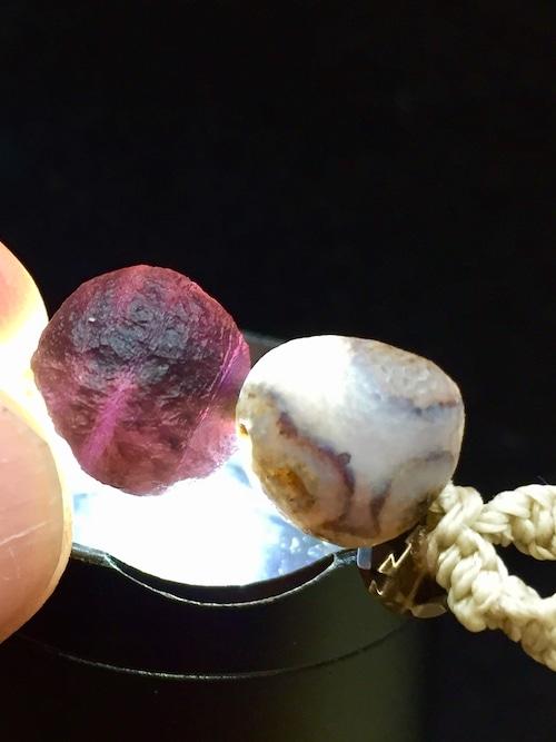 2) 紫ゴビアゲート「卑弥呼」ペンダントA