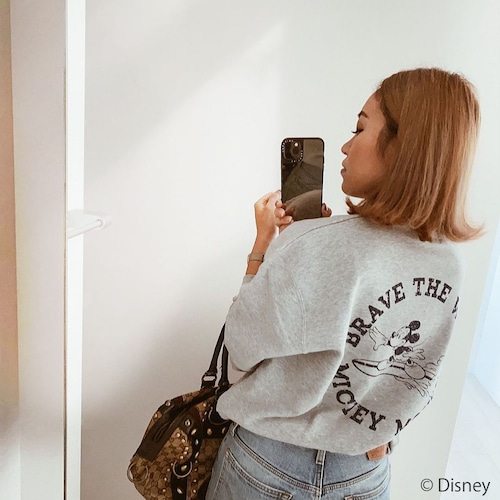 BRAVE THE WAVE <MICKEY MOUSE> sweat - Mix gray
