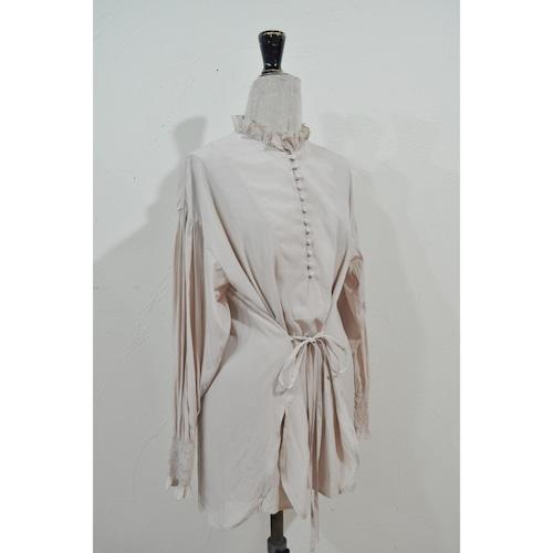 【RehersalL】bijou bolume sleeve blouse(pink beige) /【リハーズオール】ビジューボリュームスリーブブラウス(ピンクベージュ)