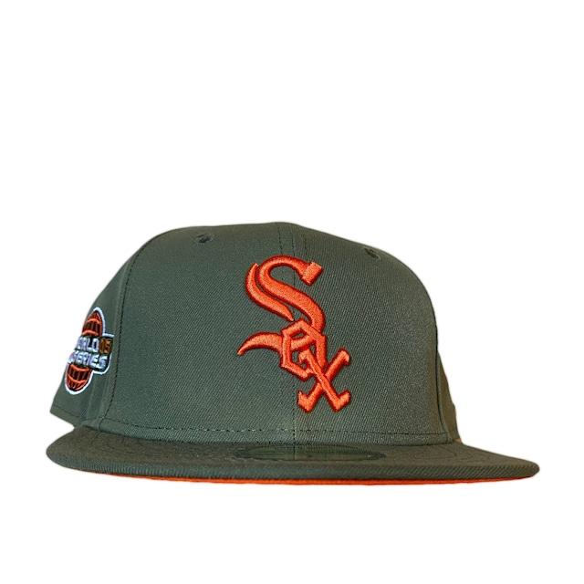 NEW ERA Chicago White Sox 2005 World Series 59Fifty Fitted / Olive×Orange (Orange Brim)