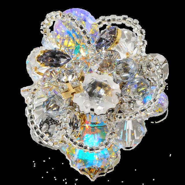 Stardust Brooch (スターダストブローチ)EMU-019-9 オーロラクリスタル