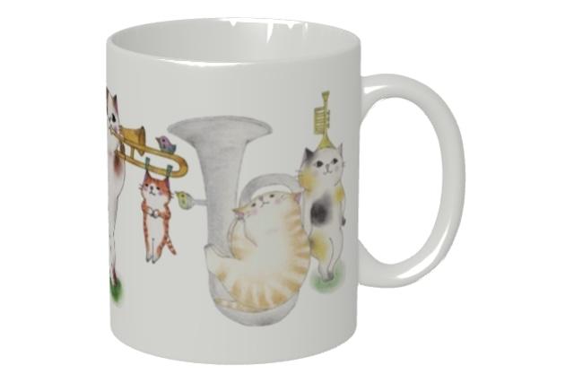 金管楽器ねこマグカップ