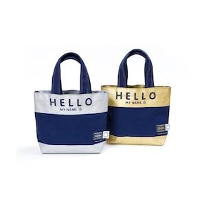 FLAVOR.×PORTER (吉田カバン) HELLO MINI TOTE BAGS (ハローミニトートバッグ) ゴールド・シルバー