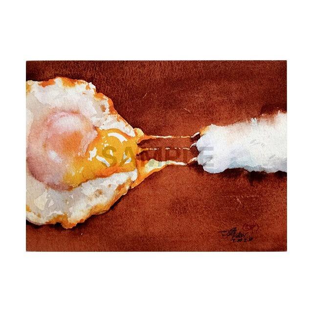 台湾ポストカード 水彩猫「療癒的裂縫」