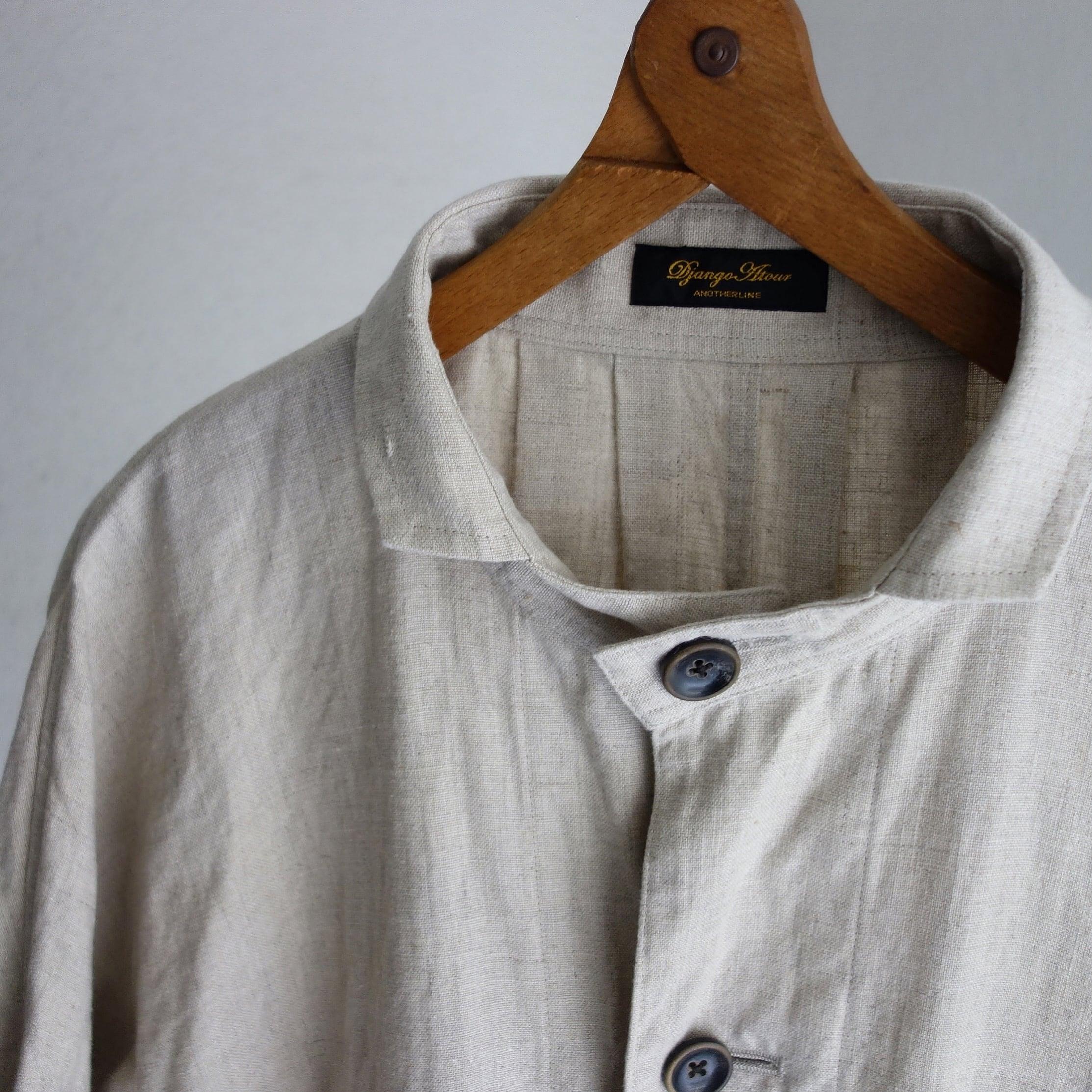 classic farmers heavylinen coat / antique ecru