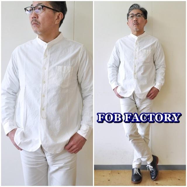FOBFACTORY エフオービーファクトリー FOBファクトリー オックスフォードシャツ バンドカラーシャツ F3429