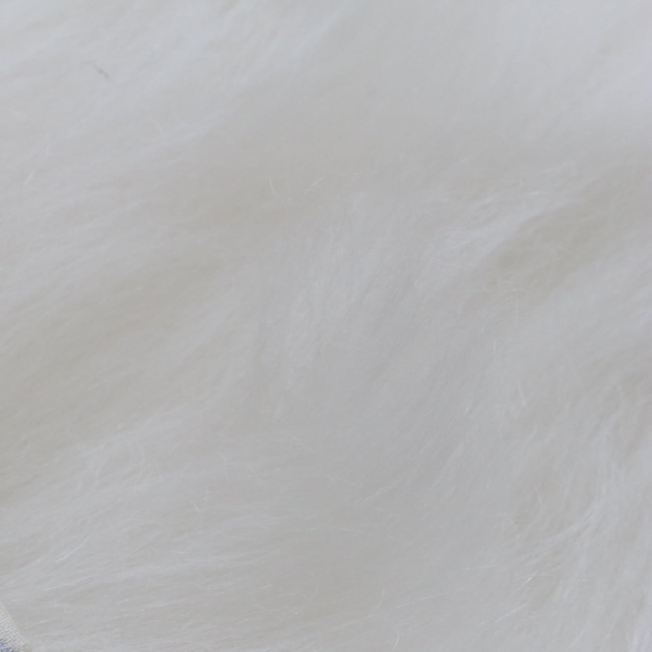 【モヘア】超ロング白  1/2ヤード long mohair (Steiff Schulte)