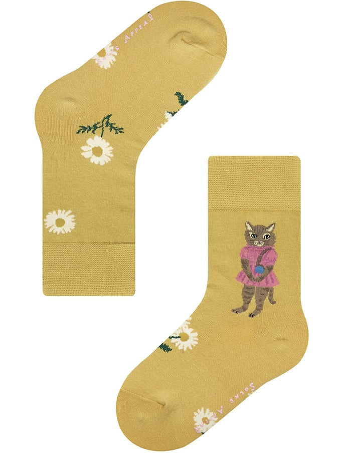 7-9years【Nathalie Lete】KIDS PINK DRESS CAT