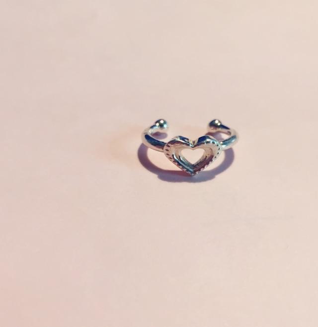 Heart dot phalange RING SILVER925 #0126-sv ハートドットファランジリング/シルバー925