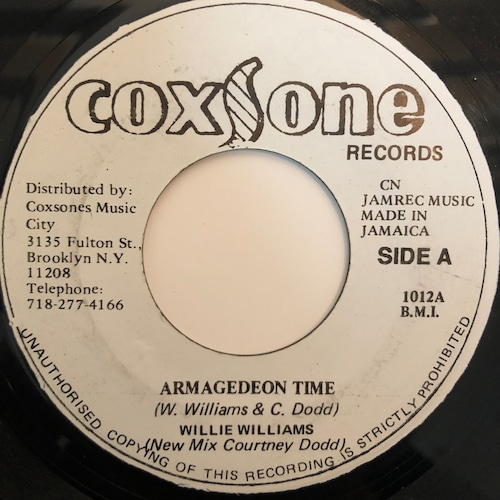 Willie Williams - Armagideon Time【7-20353】