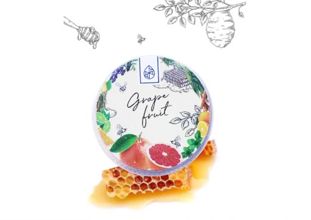 【信州産天然アロマ香る】蜜蝋(みつろう)クリーム【ピンクグレープフルーツ】