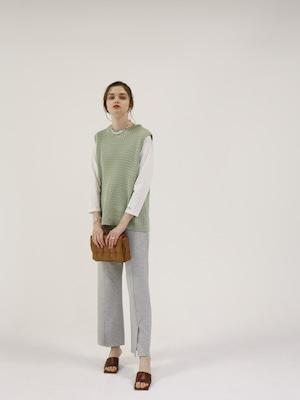 bonding slit pants(gray)