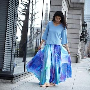 Chiffon Maxi Skirt UMI 海