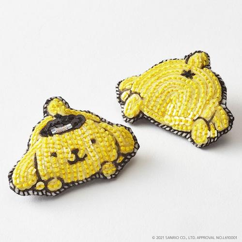 刺繍ブローチ ポムポムプリン/Sanriocharacters Pom Pom Prin