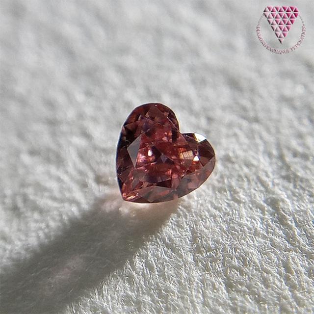 0.070 ct Fancy Deep Pink VS2 CGL 天然 ピンク ダイヤモンド  ルース  ハートシェイプ