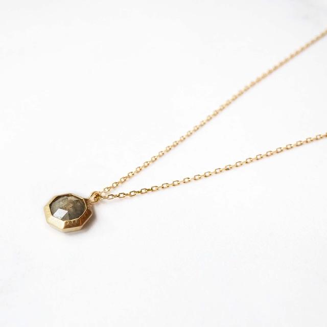 Rose Cut Diamond Necklace(N146-YD)