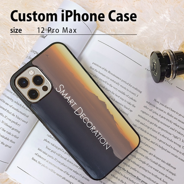 写真でオーダーメイド・オリジナルiPhone 12 Pro Maxケース(カバー)/カスタムオーダー/ハイブリッドiPhoneケース/写真プリント/指紋防止