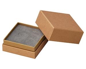 リング・ピアス・ペンダント兼用インロー式紙箱 正方形Lサイズ エンボス紙 20個入り AR-REP234