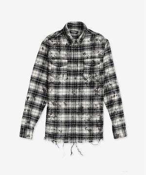 ブリーチ加工チェックシャツ