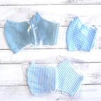 【おおやまとみこ】立体布マスク(冷感・ブルー)・レディースサイズ/マスク