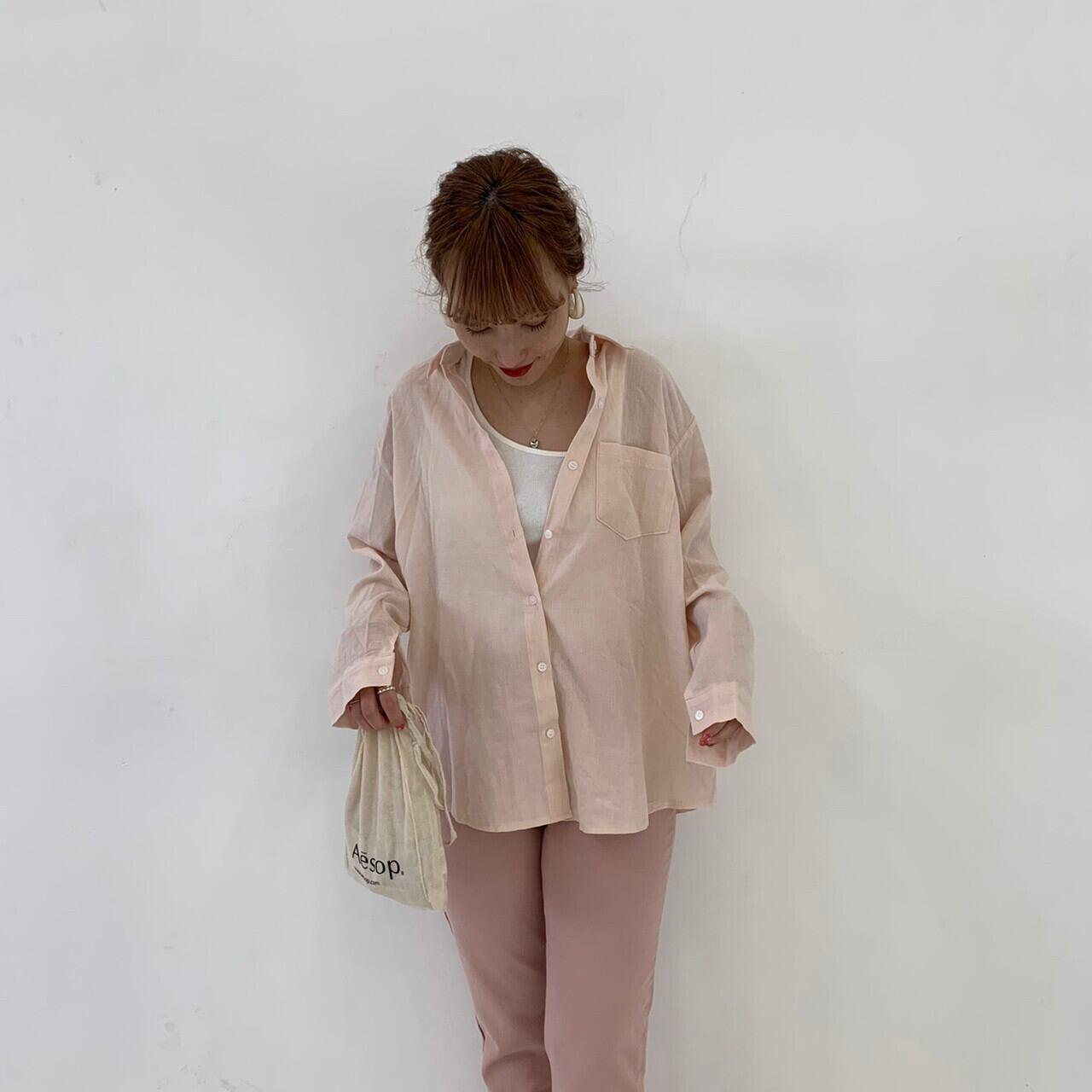 【asyu】sheer shirt