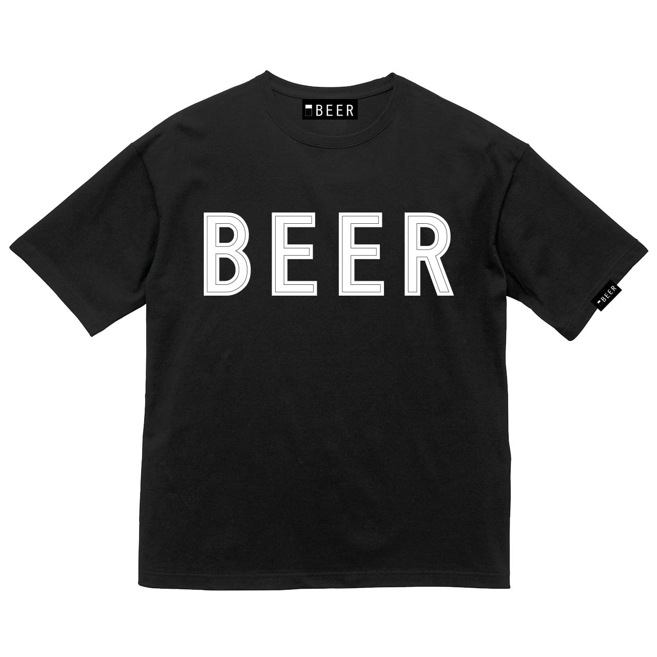 BEER アップリケロゴT ブラック