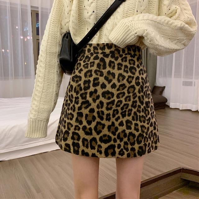 【ボトムス】韓国系膝上ハイウエストAラインスカート24221697