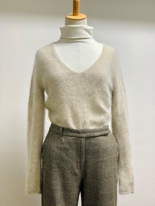 Old V-Neck Angora Sweater