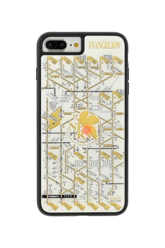 FLASH NERV 基板アート iPhone7/8Plusケース 白【東京回路線図A5クリアファイルをプレゼント】