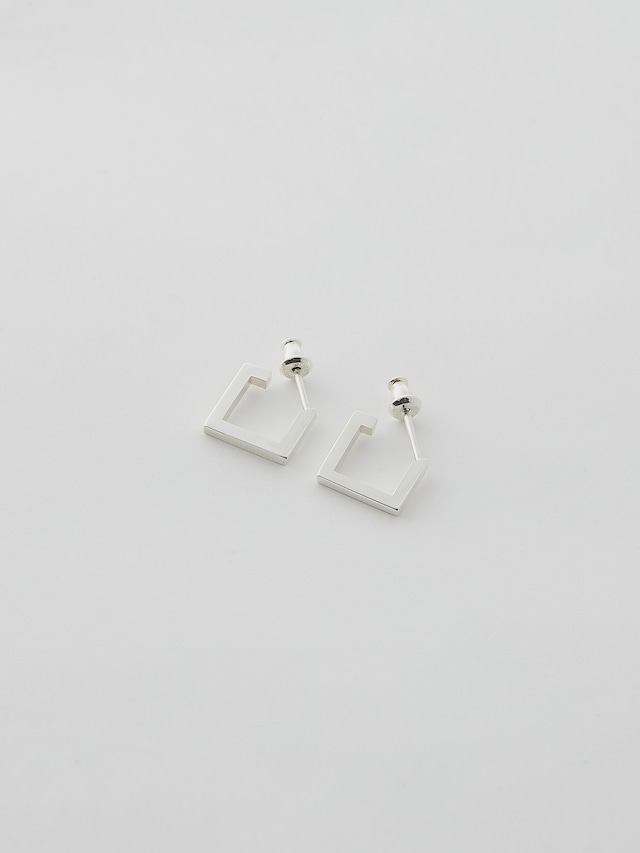 WEISS Pair Square Earring Silver wei-pisv-17p