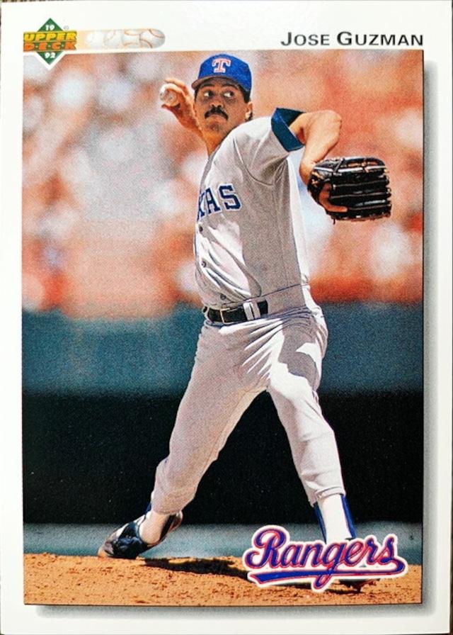 MLBカード 92UPPERDECK Jose Guzman #204 RANGERS