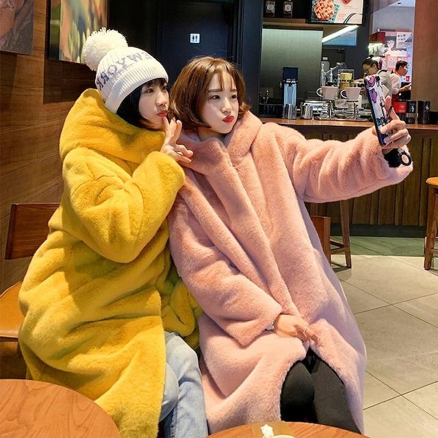 【アウター】ロング模擬ウールファッションキュートコート25969425
