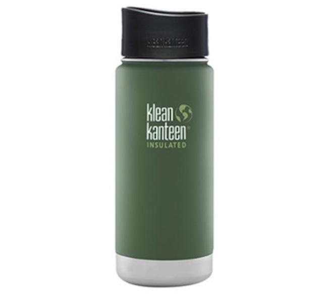 Klean Kanteen ワイドインスレートボトルカフェキャップ2.0 16oz ビンヤードグリーン