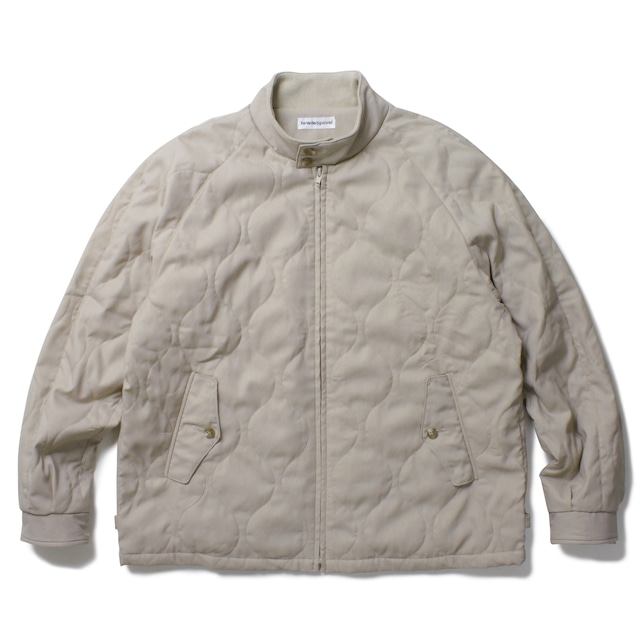 POVAL Quilted Harrington Jacket Beige