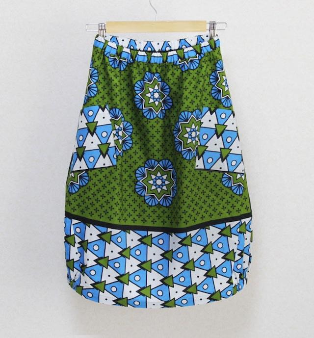 【 Outlet 】カンガのバルーンスカート|アフリカ布スカート