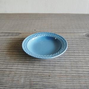 感器工房 波佐見焼 翔芳窯 ローズマリー リムプレート 皿 約10cm ペイルグレー 333065