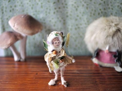 ボトルに入った綿人形 ボタニカル