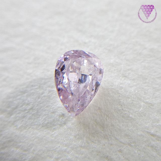 0.177 ct Fancy Purple Pink I1 CGL 天然 ピンク ダイヤモンド ルース ペア シェイプ