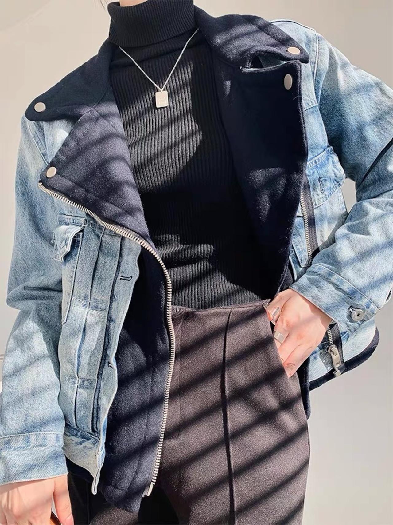 design over denim jacket