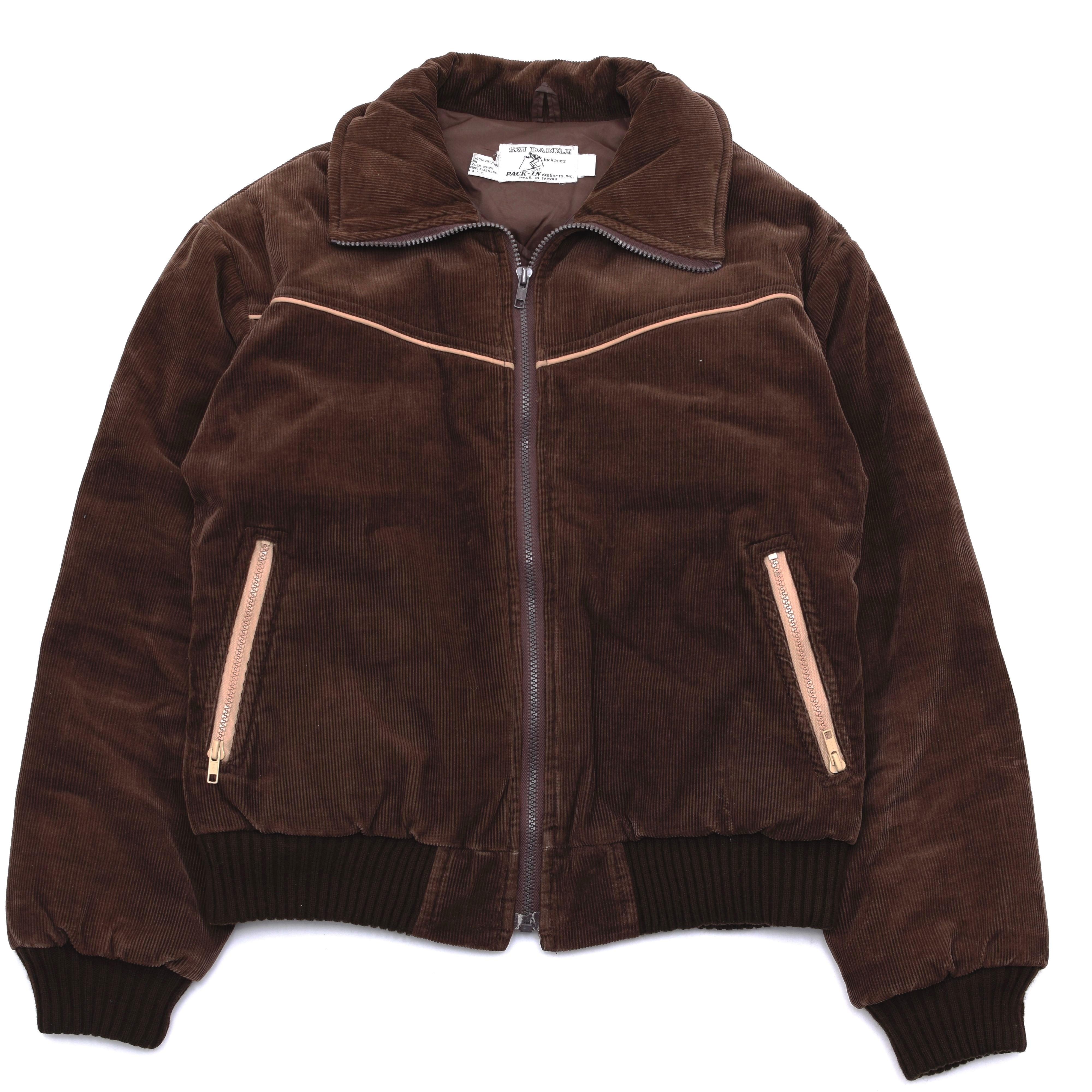 80's SKI DADDLE corduroy down jacket